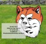 05-WC-0237 - Akita Inu Yard Art Woodworking Pattern