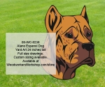 Alano Espanol Dog Yard Art Woodworking Pattern