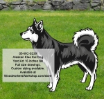 Alaskan Klee Kai Dog Yard Art Woodworking Pattern