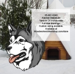 05-WC-0240 - Alaskan Malamute Dog Yard Art Woodworking Pattern