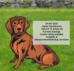 05-WC-0241 - Alpine Dachsbracke Dog Yard Art Woodworking Pattern
