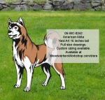 American Akita Dog Yard Art Woodworking Pattern