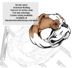 05-WC-0243 - American Bulldog Dog Yard Art Woodworking Pattern