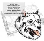 05-WC-0245 - American Eskimo Dog Yard Art Woodworking Pattern