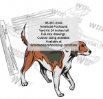American Foxhound Dog Yard Art Woodworking Pattern
