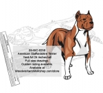 American Staffordshire Terrier Dog Yard Art Woodworking Pattern