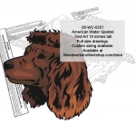 American Water Spaniel Dog Yard Art Woodworking Pattern