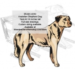 05-WC-0252 - Anatolian Shepherd Dog Yard Art Woodworking Pattern