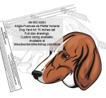05-WC-0253 - Anglo-Francais de Petite Venerie Dog Yard Art Woodworking Pattern
