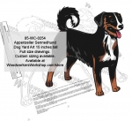 Appenzeller Sennenhund Dog Yard Art Woodworking Pattern