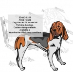 05-WC-0259 - Artois Hound Dog Yard Art Woodworking Pattern