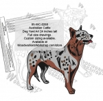 Australian Cattle Dog Yard Art Woodworking Pattern woodworking plan