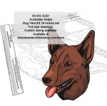 Australian Kelpie Dog Yard Art Woodworking Pattern