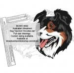 Australian Shepherd Dog Yard Art Woodworking Pattern