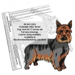 Australian Silky Terrier Dog Yard Art Woodworking Pattern woodworking plan