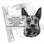 Australian Stumpy Tail Cattle Dog Yard Art Woodworking Pattern woodworking plan
