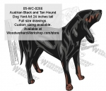 05-WC-0266 - Austrian Black and Tan Hound Dog Yard Art Woodworking Pattern