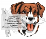 Austrian Pinscher Dog Yard Art Woodworking Pattern