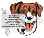 Austrian Pinscher Dog Yard Art Woodworking Pattern