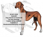 05-WC-0268 - Azawakh Dog Yard Art Woodworking Pattern