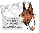 Basenji Dog Yard Art Woodworking Pattern