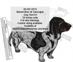 Basset Bleu de Gascogne Dog Yard Art Woodworking Pattern woodworking plan