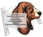 Basset Hound Dog Yard Art Woodworking Pattern