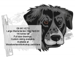 Large Musterlander Dog Yard Art Woodworking Pattern, Large Musterlander Dogs,breeds,yard art,painting wood crafts,jigsawing patterns,drawings,plywood,plywoodworking plans,woodworkers projects,workshop blueprints