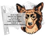 Spitz Mix Dog Yard Art Woodworking Pattern