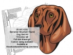 05-WC-0282 - Barvarian Mountain Hound Dog Yard Art Woodworking Pattern