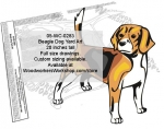 Beagle Dog Intarsia Art Woodworking Pattern