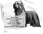 Bearded Collie Dog Yard Art Woodworking Pattern, Bearded Collies,Dogs,breeds,yard art,painting wood crafts,jigsawing patterns,drawings,plywood,plywoodworking plans,woodworkers projects,workshop blueprints