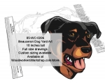 Beauceron Dog Yard Art Woodworking Pattern woodworking plan