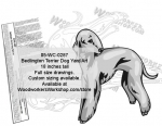 Bedlington Dog Yard Art Woodworking Pattern
