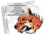 Laekenois (Belgian Shepherd) Dog Yard Art Woodworking Pattern