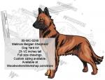 Malinois (Belgian Shepherd) Dog Yard Art Woodworking Pattern