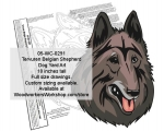05-WC-0291 - Tervuren Belgian Shepherd Dog Yard Art Woodworking Pattern