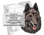 Tervuren Belgian Shepherd Dog Yard Art Woodworking Pattern