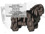 Bergamasco Shepherd Dog Yard Art Woodworking Pattern
