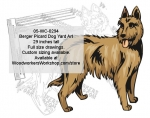 Berger Picard Dog Yard Art Woodworking Pattern