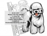 Bichon Frise Dog Yard Art Woodworking Pattern