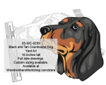 Black and Tan Coonhound Dog Yard Art Woodworking Pattern