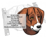 Black and Tan Foxhound Dog Yard Art Woodworking Pattern