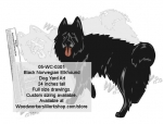 Black Norwegian Elkhound Dog Yard Art Woodworking Pattern