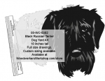 Black Russian Terrier Dog Yard Art Woodworking Pattern
