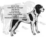 Grand Blue de Gascogne Dog Yard Art Woodworking Plan