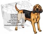 Bloodhound Dog Yard Art Woodworking Plan