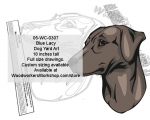 Blue Lacy Dog Yard Art Woodworking Pattern