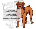 Boerboel Dog Yard Art Woodworking Pattern