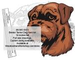 Border Terrier Dog Yard Art Woodworking Pattern